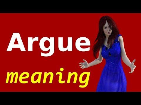 Argue meaning in Urdu | Argue in Hindi | English phrases translate into Urdu