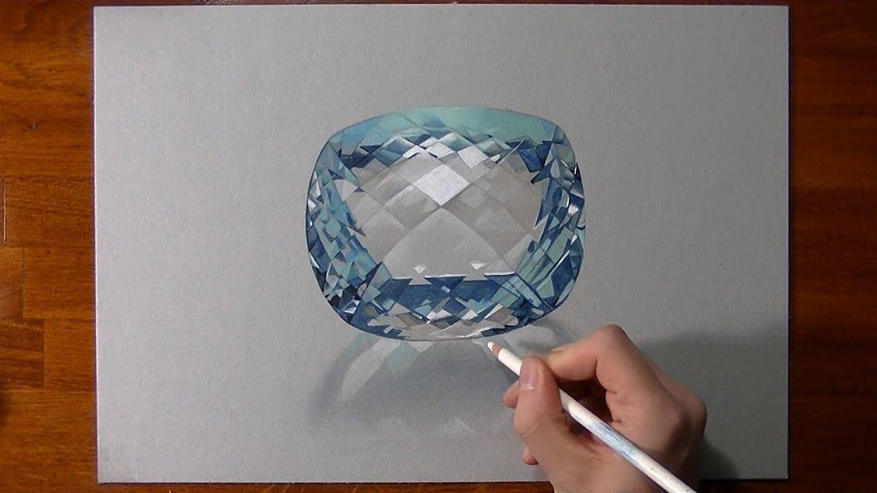 Disegno in timelapse: acquamarina - pietra preziosa - YouTube