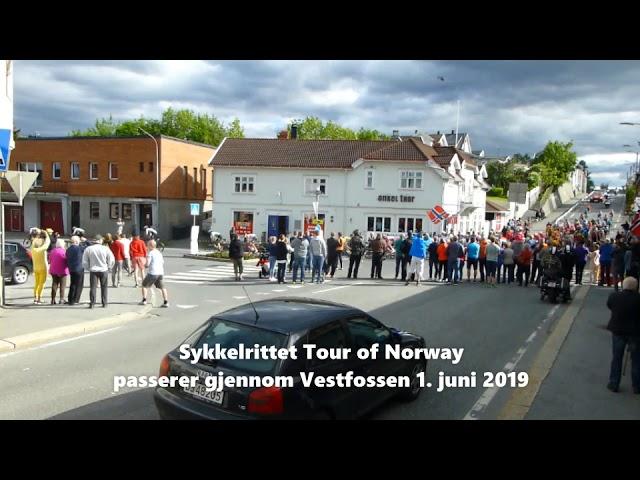 Sykkelrittet Tour of Norway 2019 passerer gjennom Vestfossen 1. juni 2019