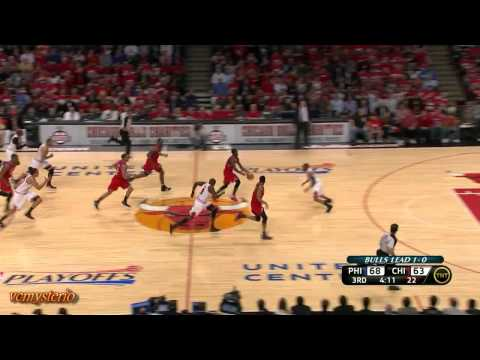 Jrue Holiday & Lou Williams combine 46pts vs Chicago Bulls First Round Game2 (2012.05.01)