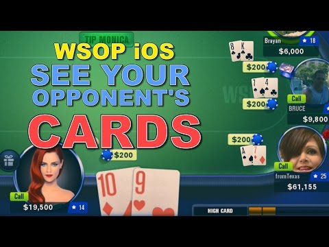 See Your Opponent's Cards In WSOP IOS!!!