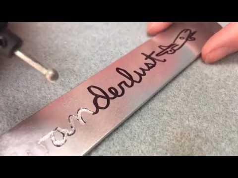 Micro-Engraved Aluminum Cuff Bracelet