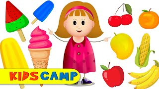 Yes Yes Ice Cream Popsicles Fruits and Vegetables Learning Videos by KidsCamp