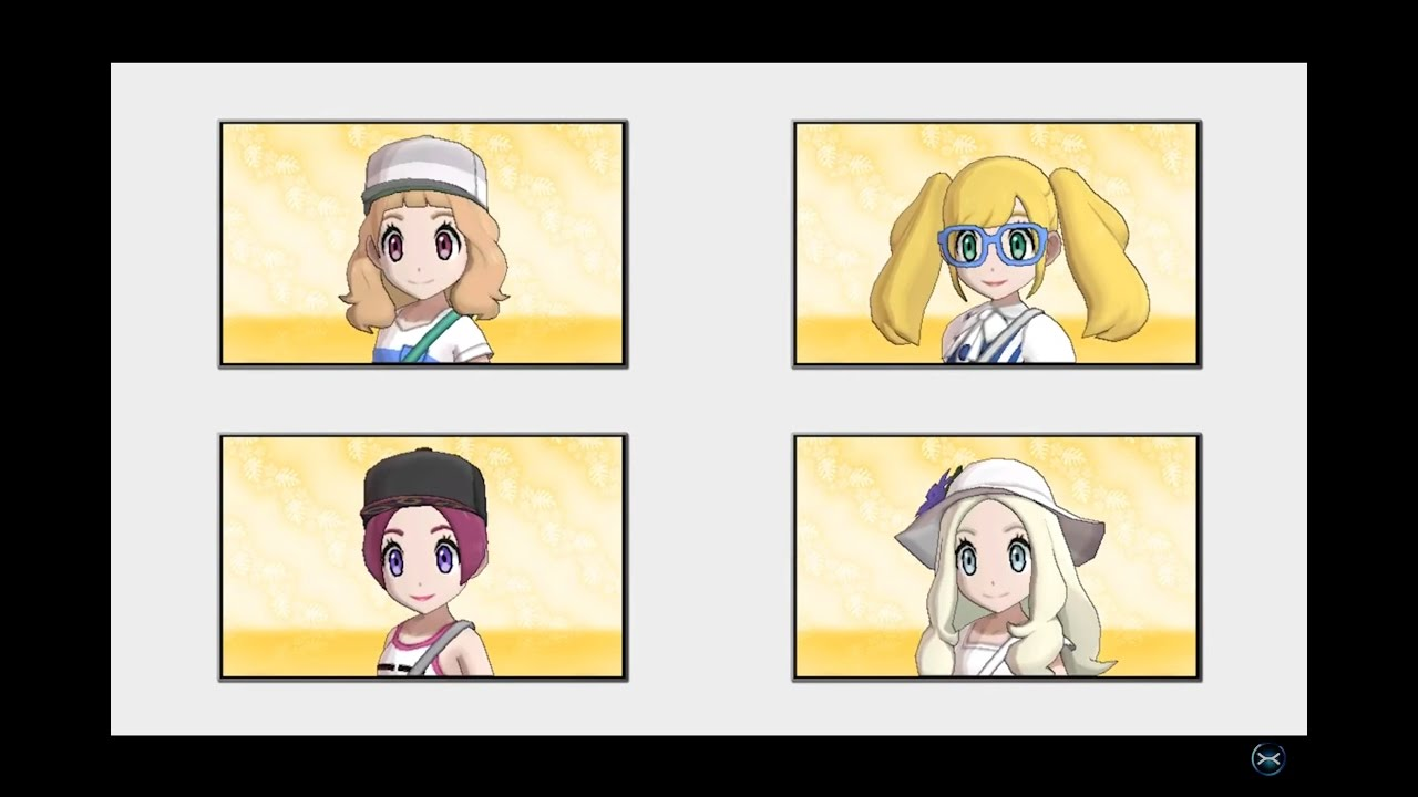 Hairstyles In Pokemon Sun : Pokemon Sun and Moon - All Hairstyles + Colors Showcase [All Genders ...