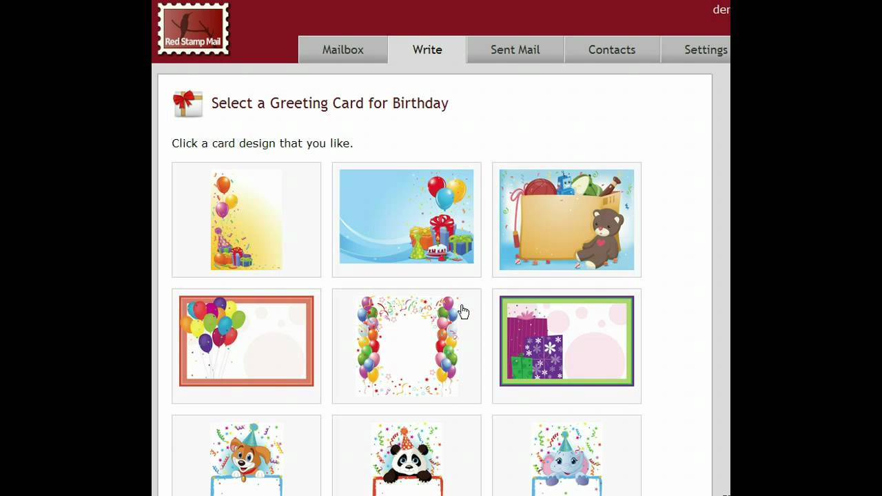Sending Greeting Cards With Red Stamp Mail Youtube