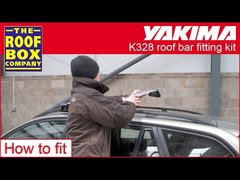Yakima Whispbar Roof Bars K328 Smartfoot Through Bars On Raised Roof Rails How To Fit Guide Youtube