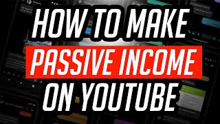 How to make passive income on YouTube | Make money on Youtube