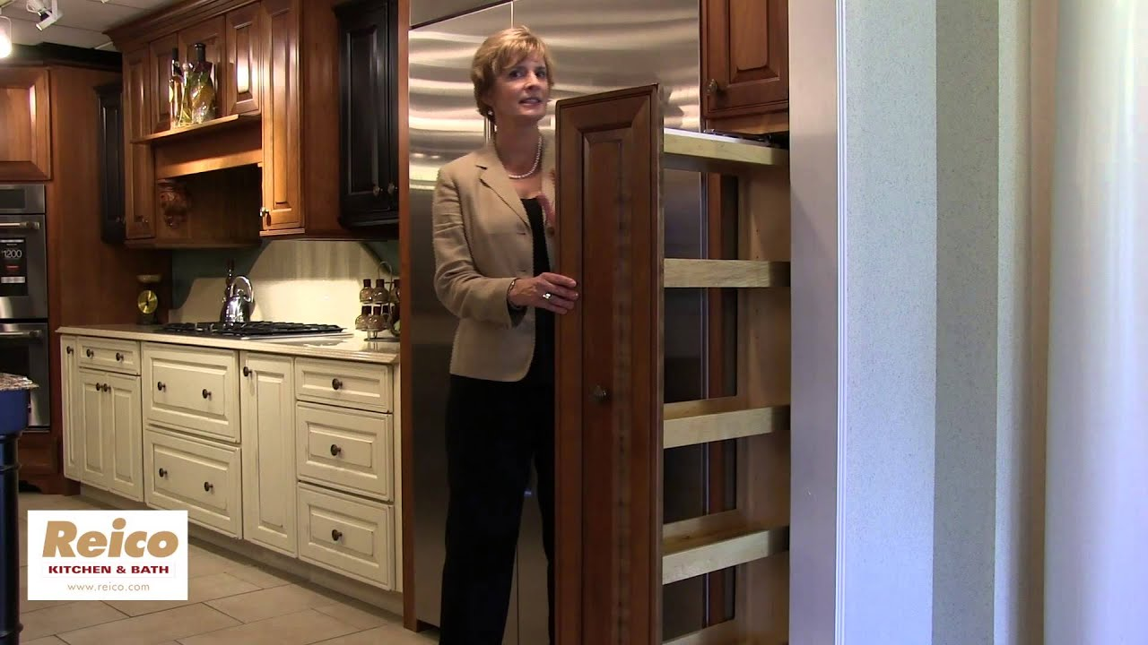 Kitchen cabinet ideas pull out pantry storage youtube for Off the shelf kitchen units