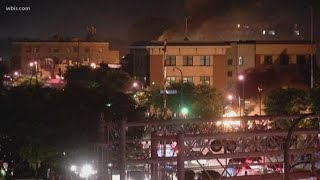 Police precinct burns during Minneapolis protest
