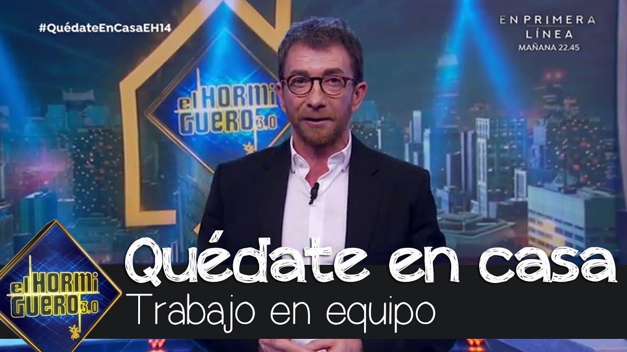 Pablo Motos reclama la eficacia del trabajo en equipo de los políticos - coronavirus