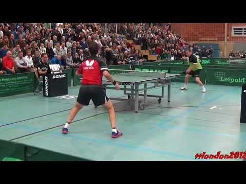 Timo Boll vs Jan-Ove Waldner (2017 Leipold Super Cup)