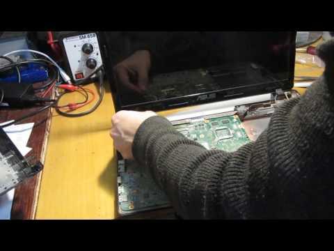 Asus K53 чистка, разборка, ремонт HDMI  Часть 1