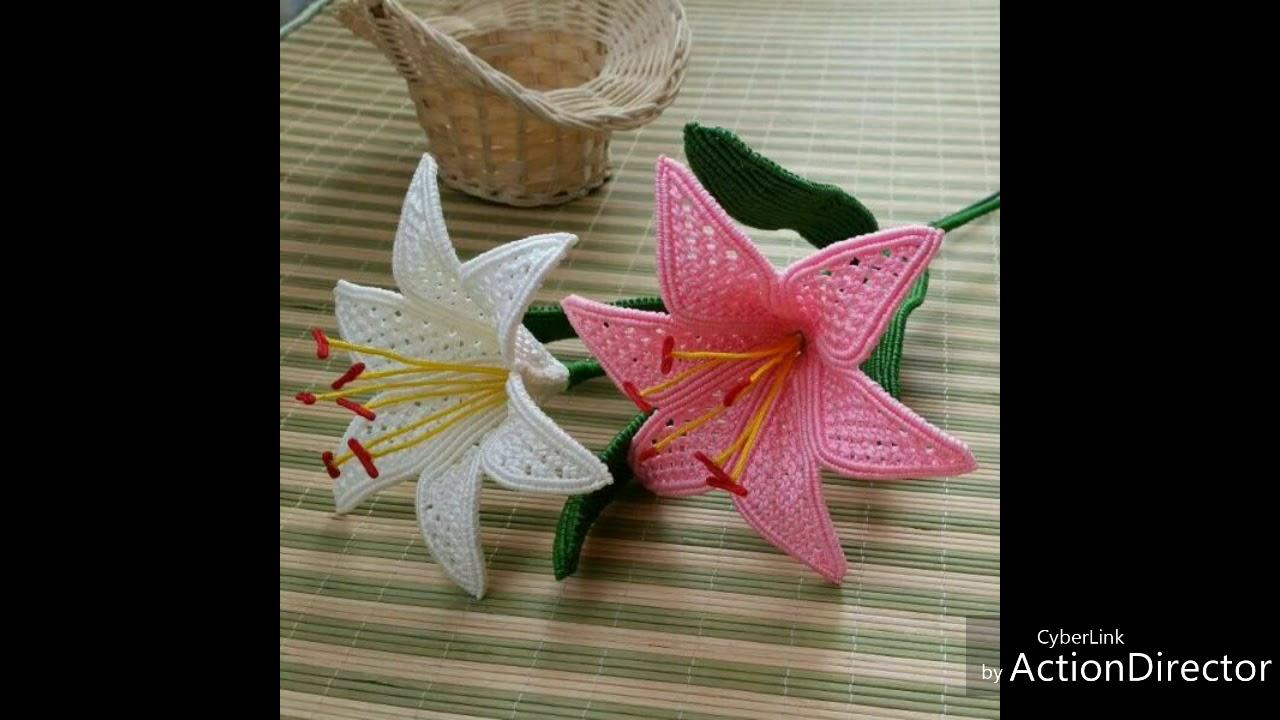 Macrame new flower designs youtube macrame new flower designs izmirmasajfo