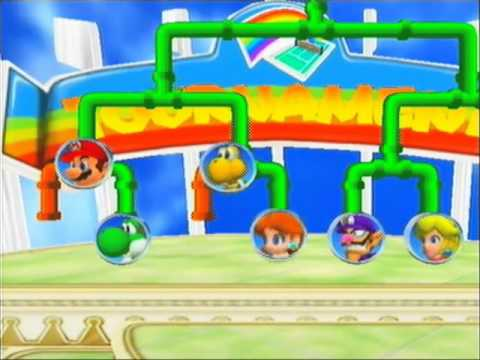Mario Power Tennis Playthrough - Mario & Luigi Rainbow Cup Singles