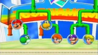 Mario Power Tennis Playthrough - Mario & Luigi Rainbow Cup Singles