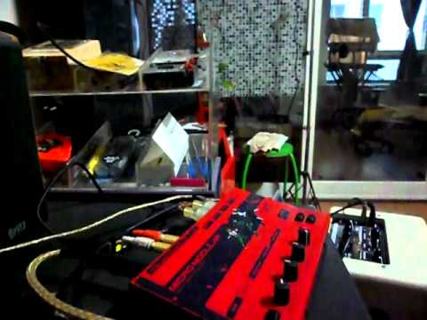 Clavia Micro Modular as auto-wah / envelope follower effect