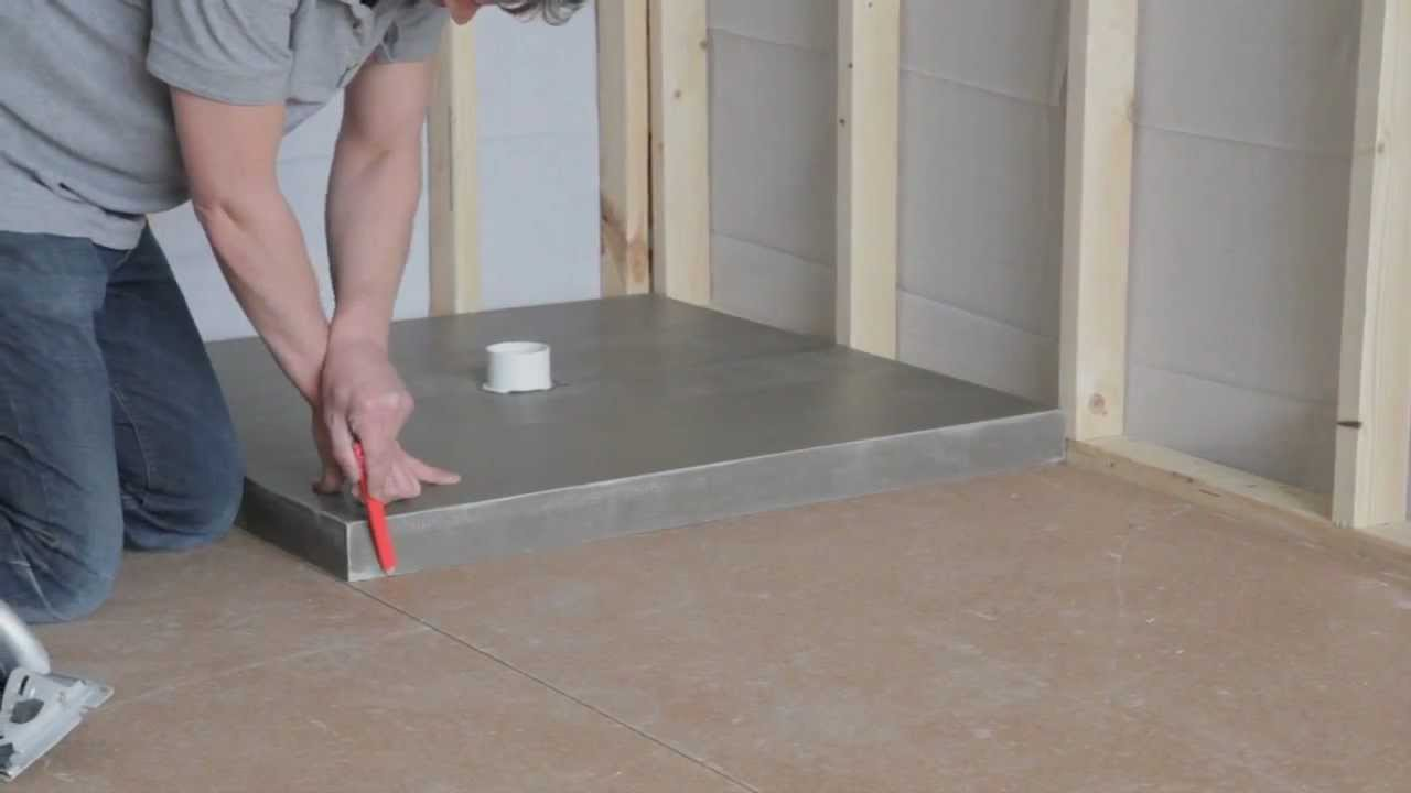 Charming How To Install A Universal Shower Base.   YouTube