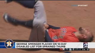 George Springer placed on 10-day disabled list for sprained thumb