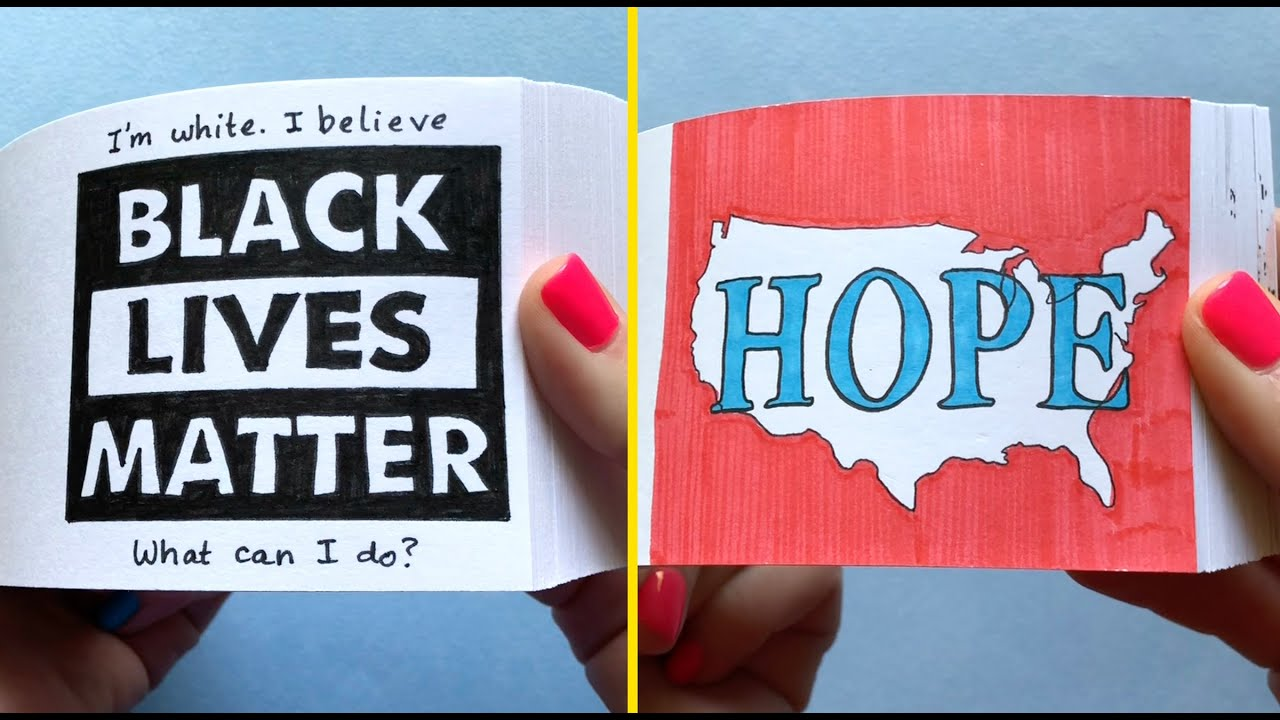 If you're white, and you believe Black Lives Matter (2 flipbooks)