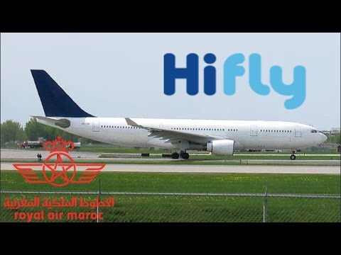 Hi Fly A330-223 (A332) taxiing & departing YUL on 24L