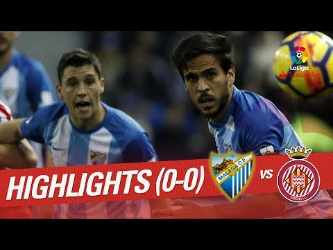 Resumen de Málaga CF vs Girona FC (0-0)