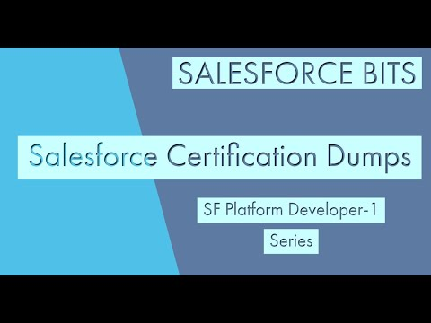 Salesforce Platform Developer Certification 1 Dumps- ADM 401