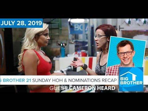 Big Brother 21 Sunday Night July 28 HOH & Nominations Recap | Cameron Heard  #BB21
