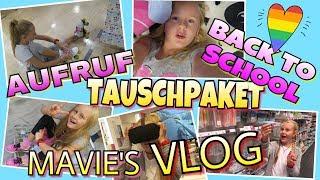 Mavie's VLOG BACK TO SCHOOL FAN TAUSCHPAKET | coole Mädchen
