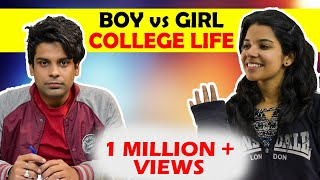 Boy vs Girl in College life | The Half-Ticket Shows