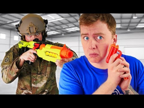 I Challenged an Actual Army Soldier to a NERF Battle...