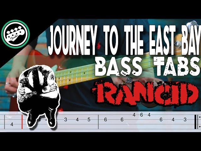 Rancid - Journey to the End of the East Bay   Bass Cover With Tabs in the Video