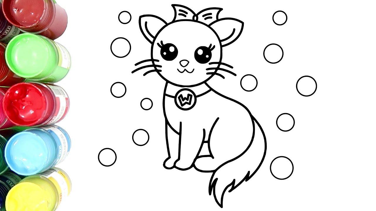 Belajar Menggambar Dan Mewarnai Kucing Cantik Dengan Cat Air