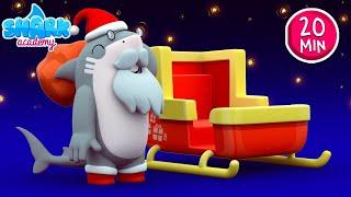 CHRISTMAS SONGS - Jingle bells with Sharks - Shark Academy for kids