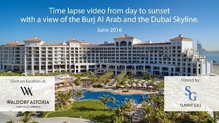 Burj Al Arab Time Lapse from Waldorf Astoria Palm Jumeirah