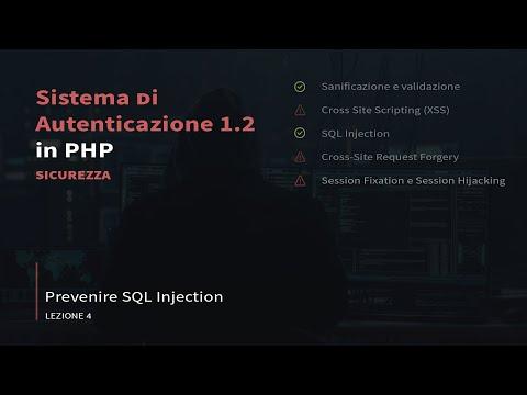 [IT] Sistema Di Autenticazione In Php V1.2 - Prevenire SQL Injection #4