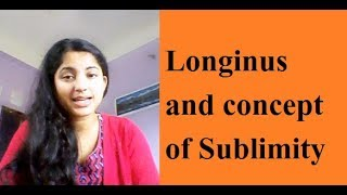 Longinus and his concept of sublimity