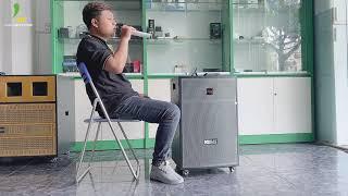 Loa kéo Acnos CBX15G: Mẫu loa kéo giá rẻ dưới 6 triệu dành cho gia đình, hát karaoke không cần wifi