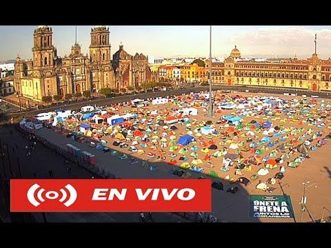 Zocalo en vivo / visto desde el Gran Hotel Ciudad de México