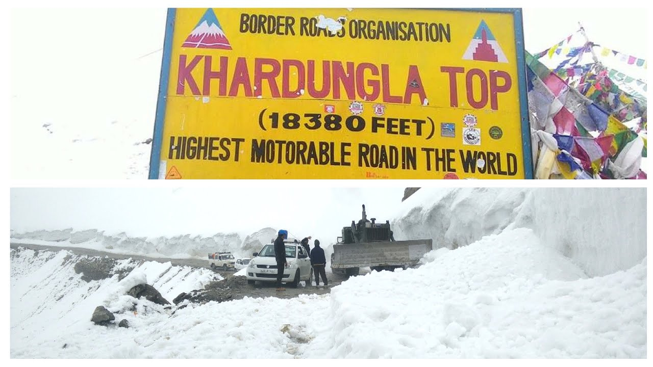Image result for World's highest motorable road built by Indians in Ladakh