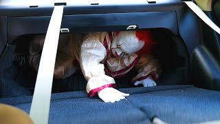 Pennywise From It Attacks in Kayla's New Car- Scary Clown Stories!