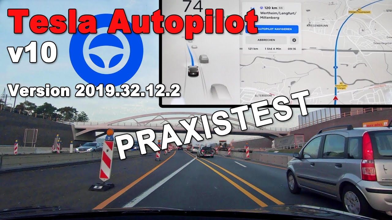 Tesla Autopilot v10 Extrem Test Version 2019.32.12.2 Model ...