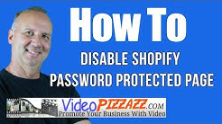 How To Disable Shopify Password Protected Page - Shopify How To Edit Content Of Password Page