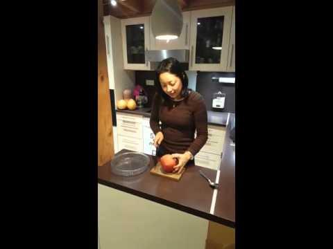 Como preparar a fruta romã