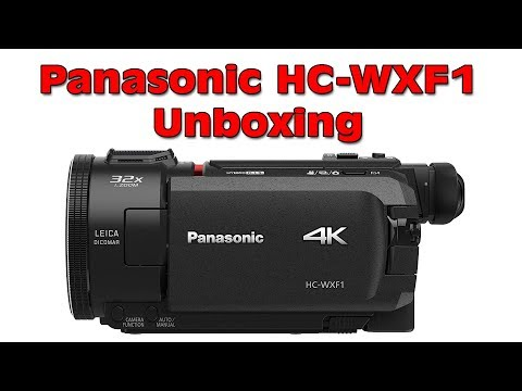 New Panasonic HC WXF1 4K Ultra HD Camcorder Unboxing - YouTube