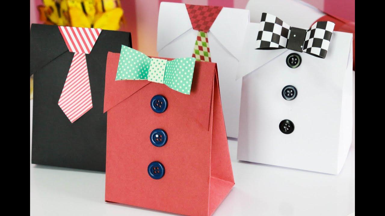 Artesanato Com Eva Facil ~ DIY Como fazer Embalagem de Presente para o Dia dos Pais