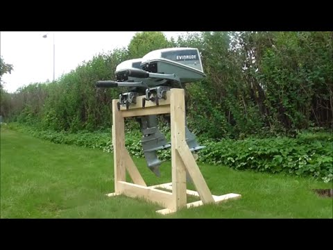 Wooden Twin Outboard Stand Youtube