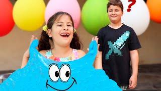 Maria Clara e JP fazem uma slime gigante ♥ Maria and JP make a Giant slime