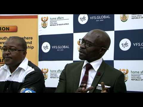 Minister Malusi Gigaba briefing  the media on the Zimbabwean Special Permit, 17 March 2015, Midrand