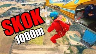 MÓJ PIERWSZY SKOK ZE SPADOCHRONEM!! (1000m) *szok*