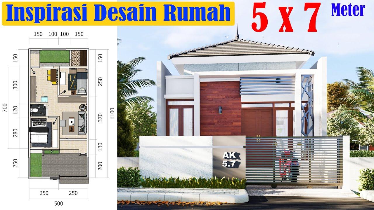 Desain Rumah Mungil 5x7 Meter Minimalis Modern Lengkap Dengan Interior 1 Lantai Dilahan 5x11 Meter Youtube